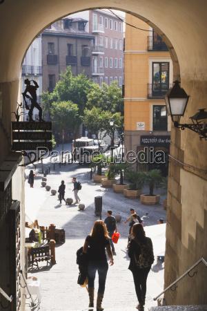 restaurante azul escalera ir paseo viaje