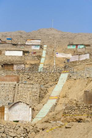 shanties construidas sobre niveles de terreno