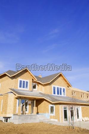 azul casa construccion vidrio vaso lograr