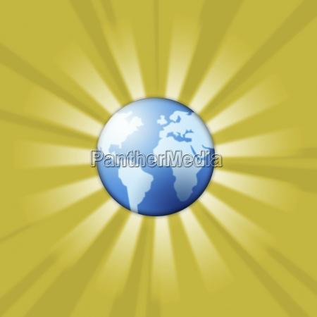 ilustracion perpendicular vertical continente globo tierra