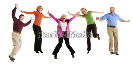 adults jumping