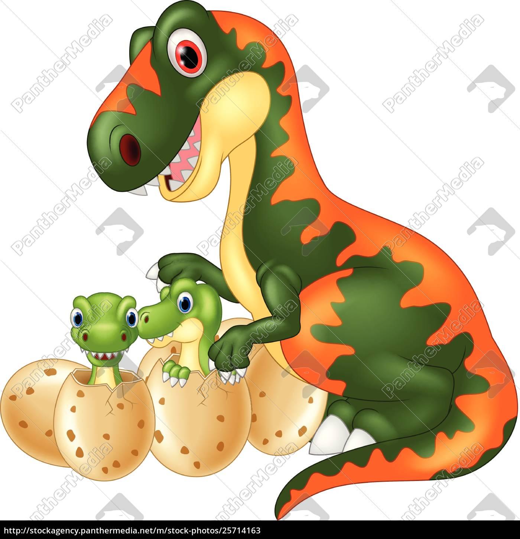 Caricatura De Tiranosaurio Con Dinosaurio Bebe Foto De Archivo 25714163 Agencia De Stock Panthermedia Ordena las piezas en este rompecabezas hecho con la foto de un tiranosaurio rex dentro de un museo. vector libre de derechos 25714163 caricatura de tiranosaurio con