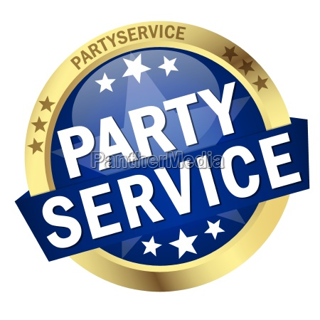 button with banner party service