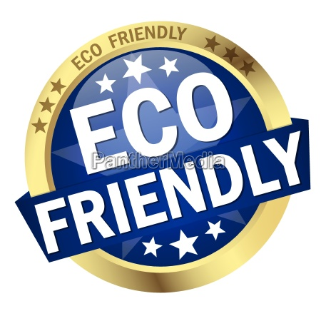 button with banner eco friendly