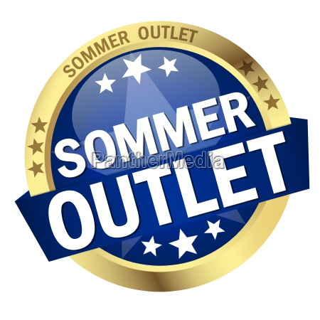 button with banner summer outlet