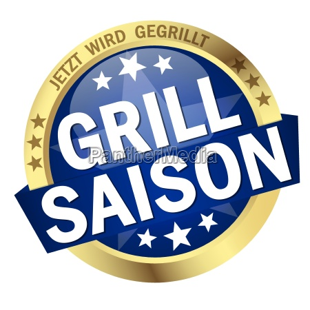 button with banner grill season