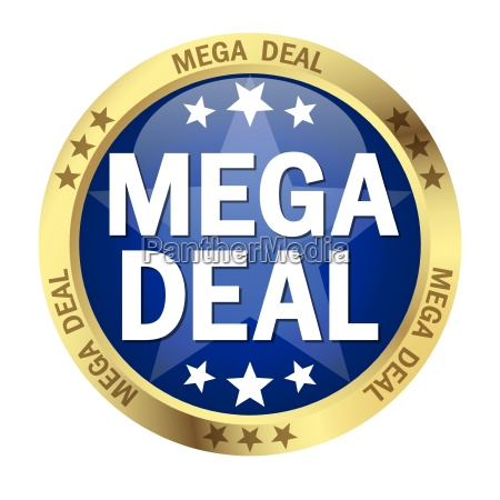 button with banner mega deal