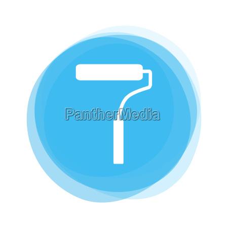 light blue button brush