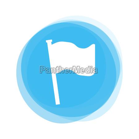 light blue button flag