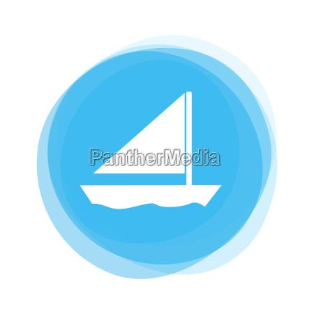 light blue button sailing boat