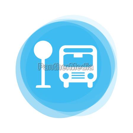 light blue button bus stop