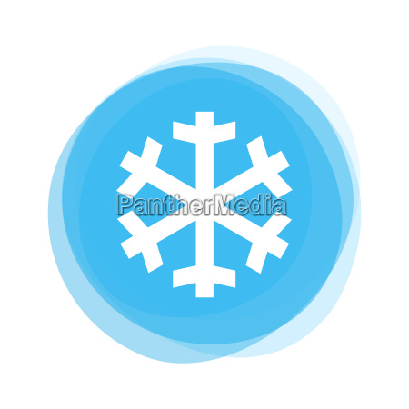 light blue button snowflake ice
