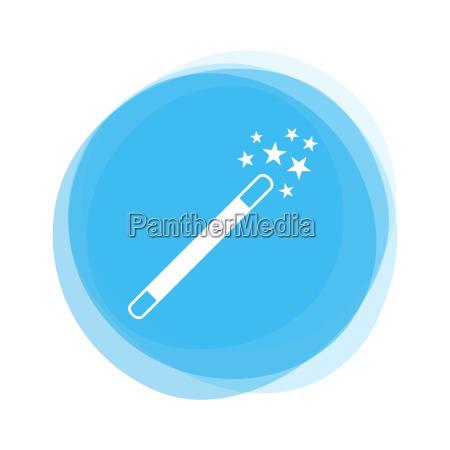 light blue button magic wand