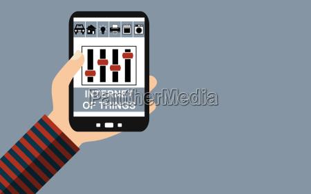 smartphone internet of things flat