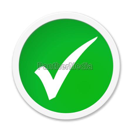 green button tick