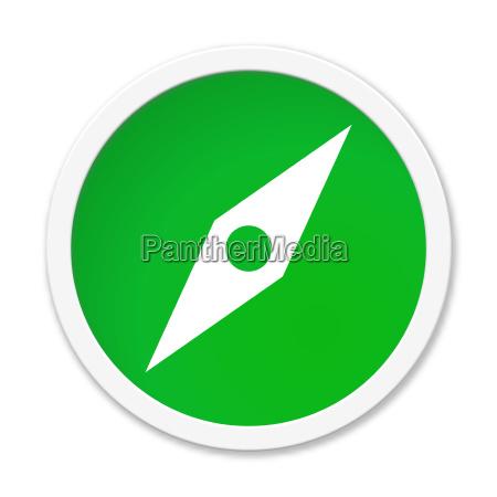 green button compass