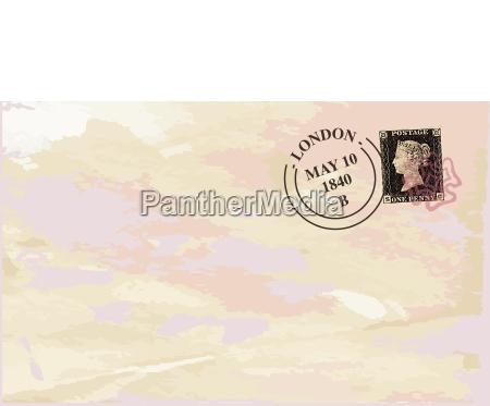 negro inglaterra britanico gran bretanya franqueo