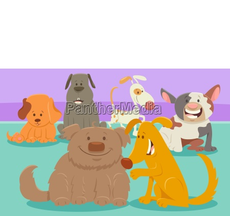 perros o cachorros grupo de personajes