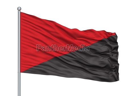 liberado simbolico horizontalmente bandera aislado cortar