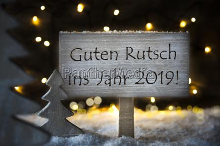 white christmas tree guten rutsch 2019