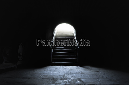 interior del sotano en entornos oscuros