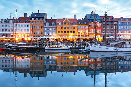 panorama, of, nyhavn, in, copenhagen, , denmark. - 25878739