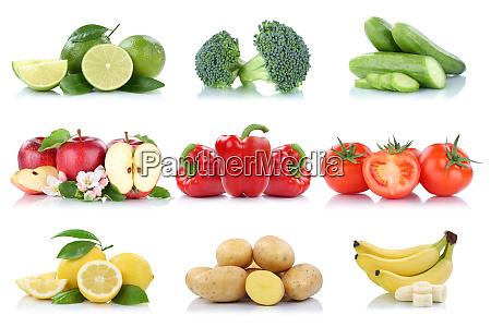 frutas y hortalizas coleccion aislado tomates