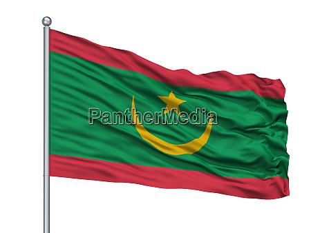 bandera de mauritania en asta de