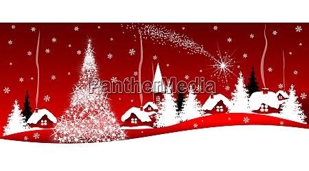 brillante estrella de navidad sobre el