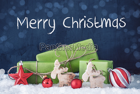 green christmas gifts snow decoration merry