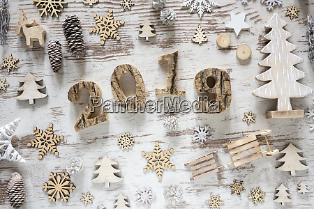 white christmas decoration with text 2019