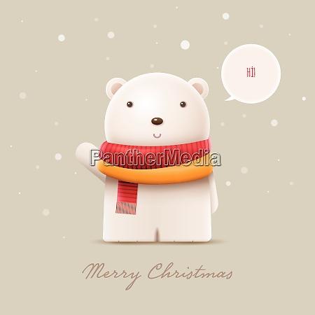 cute polar bear vector character illustration