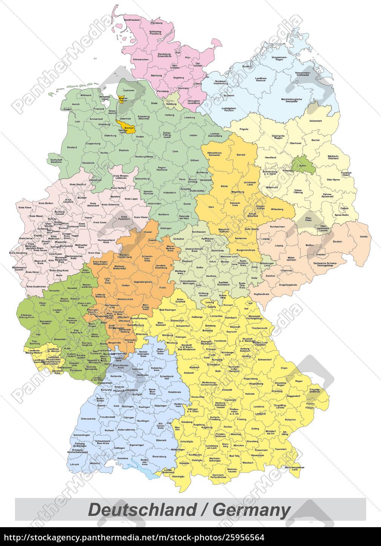 Mapa De Alemania Politico.Stockphoto 25956564 Mapa Politico De Alemania Con Condados