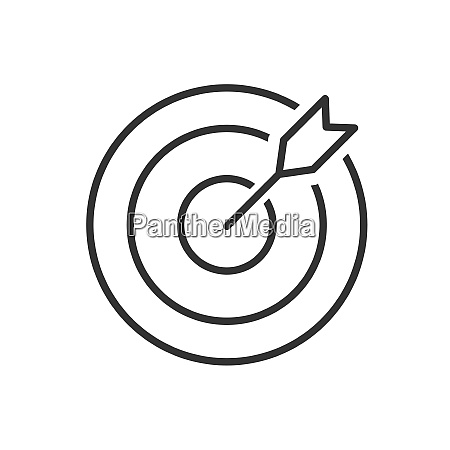 target line icon on a white
