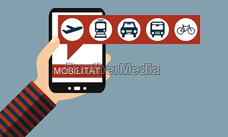 smartphone mobility german plane train car