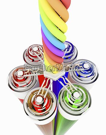 tubos de colores que conectan con