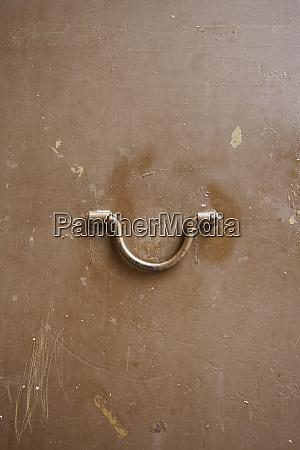 metal door with handle