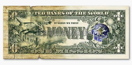 environmental images on dollar bill