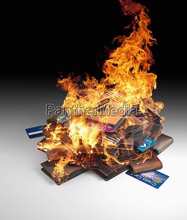 pila, ardiente, de, tarjetas, de, crédito - 26000278