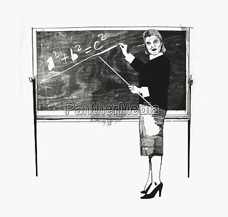 woman teaching math