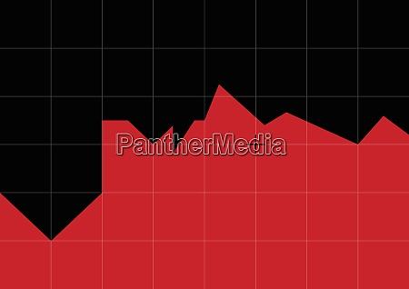 grafico rojo y negro en forma