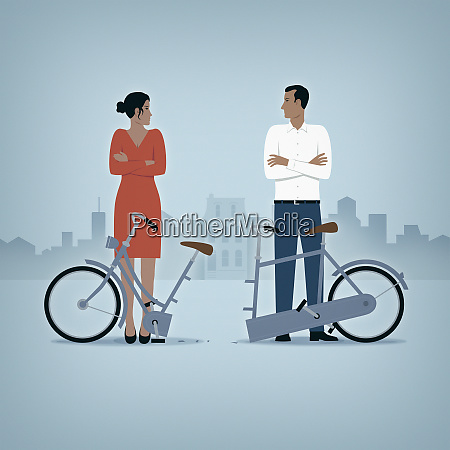 pareja en ruptura de la relacion
