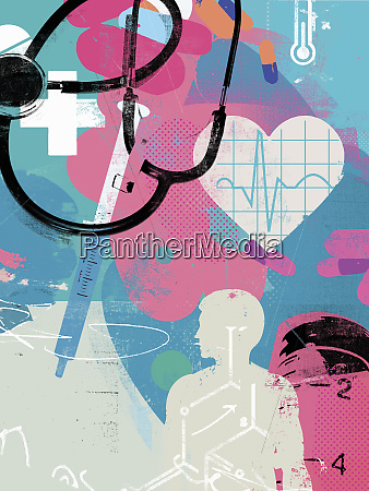 healthcare and medicine collage