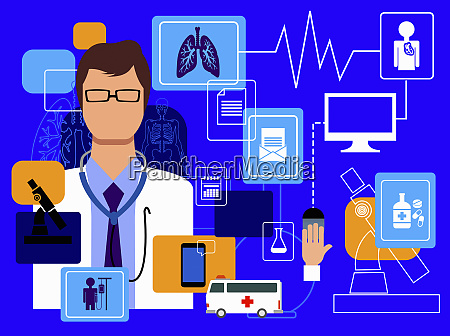 doctor and computer technology in healthcare