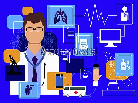 medico y tecnologia informatica en el