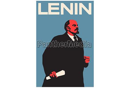 lenin ruso ilustracion comunista antecedentes hombre