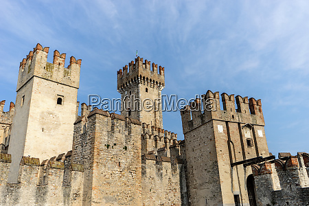towers of the castle of sirmione