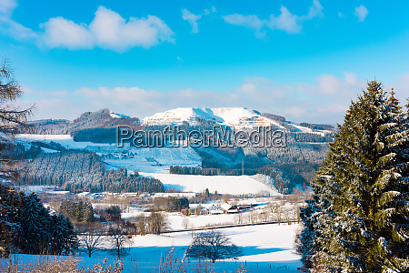 beautiful and cold sauerland in winter