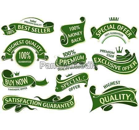 green and gold luxurious banners