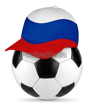 pelota de futbol rusia gorra de